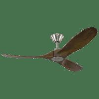 Maverick 52 - w Dark Walnut Blades Brushed Steel