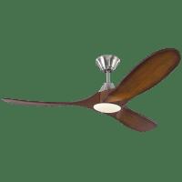 Maverick 52 LED - w Koa Blades Brushed Steel