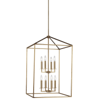 Perryton Large Eight Light Hall / Foyer Satin Brass