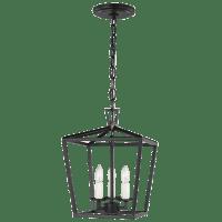 Dianna Three Light Mini Lantern Midnight Black