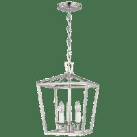 Dianna Three Light Mini Lantern Brushed Nickel Bulbs Inc