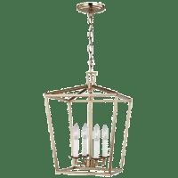 Dianna Four Light Small Lantern Satin Brass