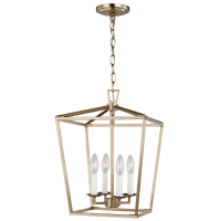 Dianna Four Light Small Lantern Satin Brass Bulbs Inc