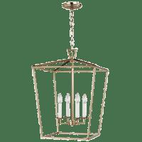 Dianna Four Light Medium Lantern Satin Brass Bulbs Inc