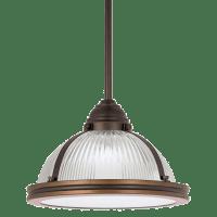 Pratt Street Prismatic One Light Pendant Autumn Bronze Bulbs Inc
