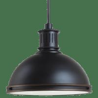 Pratt Street Metal Three Light Pendant Autumn Bronze Bulbs Inc