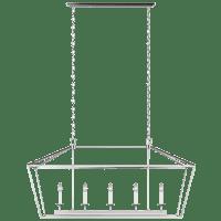 Dianna Five Light Medium Linear Chandelier Brushed Nickel