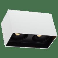 """Exo 6 Dual Flush Mount 6.1"""" Matte White Black 3500K LED 90 CRI 120v 277v UNV 30"""