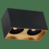 "Exo 6 Dual Flush Mount 6.1"" Matte Black Gold Haze 3000K LED 90 CRI 120v 277v UNV 40"
