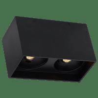 "Exo 6 Dual Flush Mount 6.1"" Matte Black Black 2700K LED 90 CRI 120v 277v UNV 60"