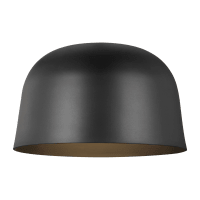 Foundry 15 Flush Mount Nightshade Black 3000K 90 CRI Integrated LED 90 CRI 3000K 120v