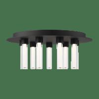 Kola 22 Flush Mount Nightshade Black 2700K 90 CRI Integrated LED 90 CRI 2700K 120v