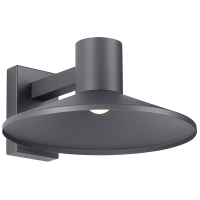 Ash 16 Outdoor Wall Charcoal Dome 2700K 90 CRI High Output, Button Photocontrol