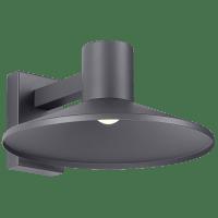 Ash 16 Outdoor Wall Charcoal Dome 3000K 90 CRI High Output, Button Photocontrol