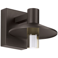 Ash 8 Outdoor Wall Bronze Cylinder 3000K 90 CRI 3000K High Output, Surge Protection
