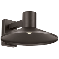 Ash 16 Outdoor Wall Bronze Dome 2700K 90 CRI Low Output, Surge Protection