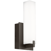 Cosmo 12 Outdoor Wall White Acrylic Bronze 3000K 80 CRI In-Line Fuse