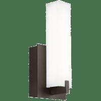 Cosmo 12 Outdoor Wall White Acrylic Bronze 4000K 80 CRI In-Line Fuse