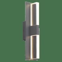 Lyft 18 Outdoor Wall Charcoal Clear 2700K 80 CRI