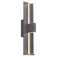 Lyft 18 Outdoor Wall Charcoal Clear 2700K 80 CRI In-Line Fuse