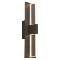 Lyft 18 Outdoor Wall Bronze Clear 2700K 80 CRI