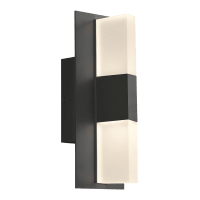 Lyft 12 Outdoor Wall Black Diffuser 3000K 80 CRI Surge Protection