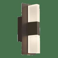 Lyft 12 Outdoor Wall Bronze 3000K Diffuser 80 CRI In-Line Fuse