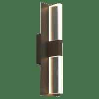 Lyft 18 Outdoor Wall Black Clear 3000K 80 CRI In-Line Fuse