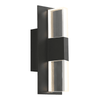 Lyft 12 Outdoor Wall Black Clear 4000K 80 CRI Surge Protection