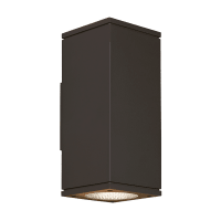 Tegel 12 Outdoor Wall Black 3000K 80 CRI, Button Photocontrol, Uplight & Downlight NWC