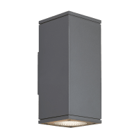 Tegel 12 Outdoor Wall Charcoal 3000K 80 CRI, Button Photocontrol, Uplight & Downlight NWC