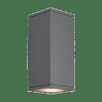 Tegel 12 Outdoor Wall Charcoal 3000K 80 CRI, Button Photocontrol, Uplight & Downlight WWC