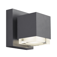 Voto 6 Outdoor Wall Charcoal 2700K 80 CRI Downlight Only Surge Protection