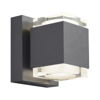 Voto 6 Outdoor Wall Charcoal 4000K 80 CRI Uplight & Downlight Surge Protection
