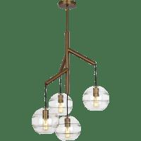Sedona Single Chandelier Single Clear Aged Brass 2700K 90 CRI t14 LED 90 CRI 2700k 120v (T20/T24)