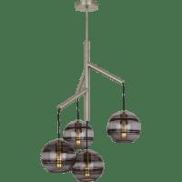 Sedona Single Chandelier Single Transparent Smoke Satin Nickel no lamp