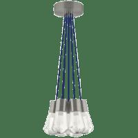 Alva Pendant 7-LITE Chandelier Blue Satin Nickel 3000K-2200K 90 CRI led 90 cri warm color dimming 3000-2200k 120v (t24)