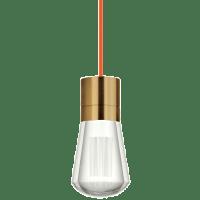 Alva Pendant 1-LITE Orange aged brass 3000K-2200K 90 CRI led 90 cri warm color dimming 3000-2200k 120v (t24)