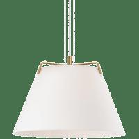 Devin Pendant White Satin gold/White no lamp