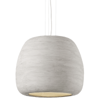 Karam Large Pendant Large Concrete/White no lamp