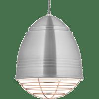 Loft Pendant Brushed Aluminum Copper Cage No Lamp