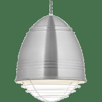 Loft Pendant Brushed Aluminum White Cage No Lamp