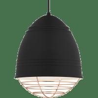 Loft Pendant Rubberized Black w/ White Interior no lamp