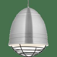 Loft Grande Pendant Brushed Aluminum w/ White Interior 2700K 90 CRI a19 led 90 cri 2700k 120v (t20/t24)