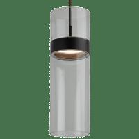 Manette Grande Pendant Transparent Smoke Glass Black/Black 3000K 90 CRI led 3000k 120v