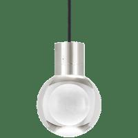 Mina Pendant 1-LITE Clear Satin Nickel Black 3000K 90 CRI LED 120v (t24)