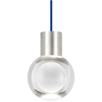 Mina Pendant 1-LITE Clear Satin Nickel Blue 2200K 90 CRI LED 90 CRI 2200k 120v (t24)