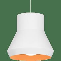 Milo Pendant White Outside/Orange Inside 2700K 90 CRI a19 LED 90 CRI 2700k 120v (T20/T24)