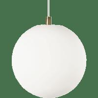 Palona Pendant White Aged Brass no lamp