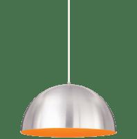 Powell Street Pendant Satin Nickel/Sunrise Orange White No Lamp